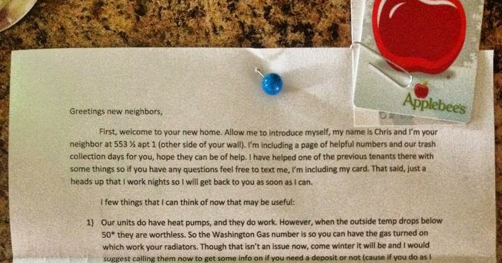 Man Welcomes His New Neighbors With Awesome Letter
