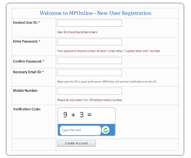 mponline registration