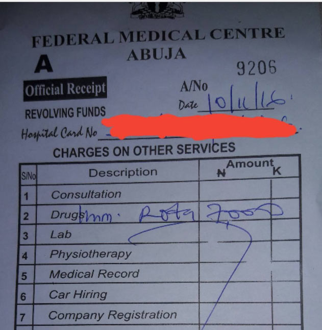 I thought govt said its free? Father angry after FMC charged him 7k for baby's immunization