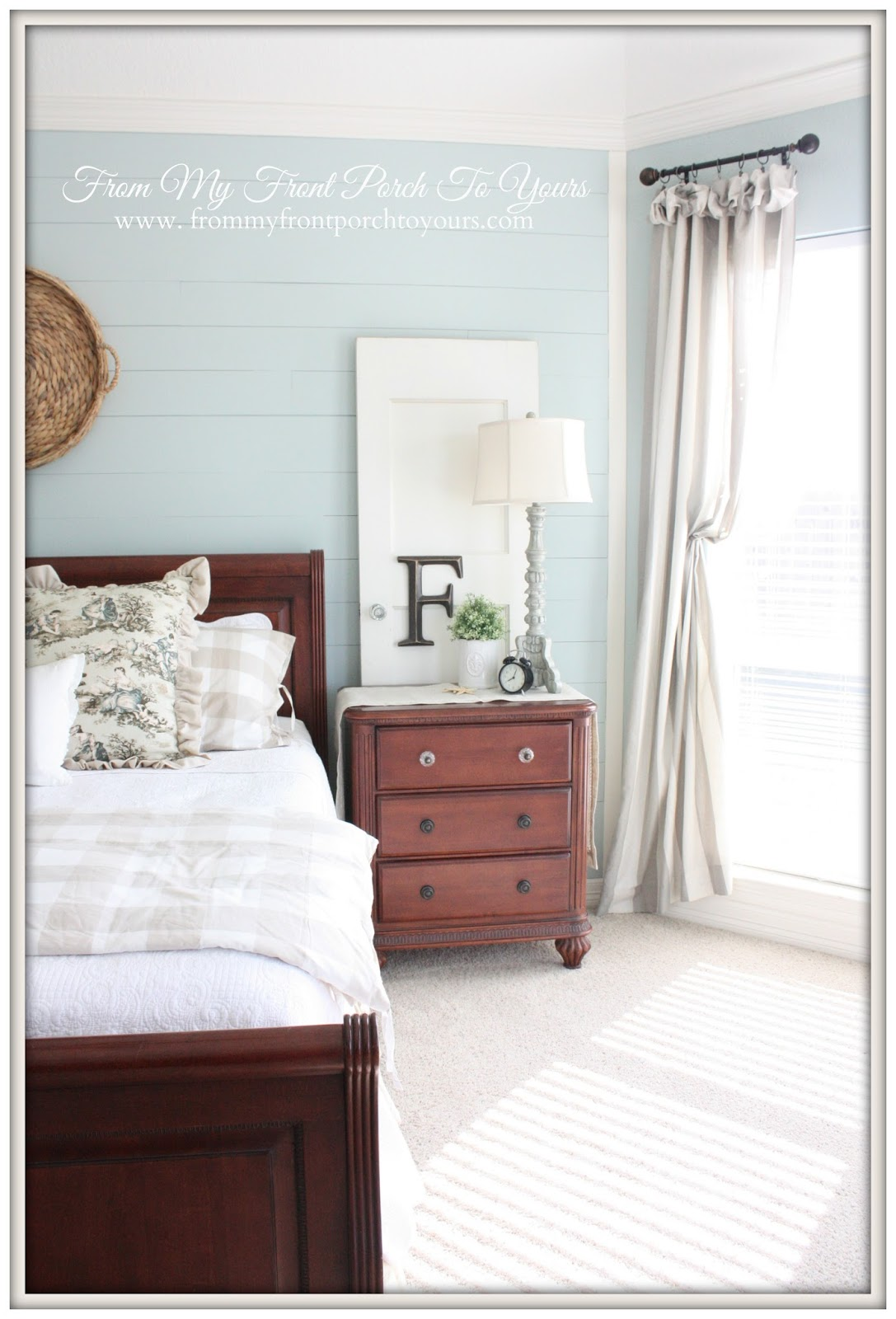 French Farmhouse Bedroom-How I Found My Style Sundays- From My Front Porch To Yours