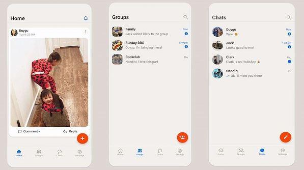 HalloApp messenger بديل واتساب
