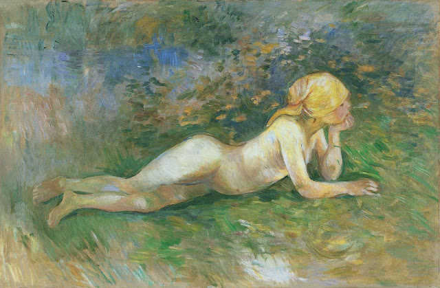 Berthe Morisot - The Reclining Shepherdess - 1891