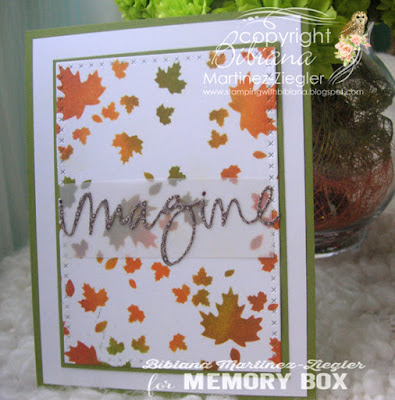 stenciled fall card front