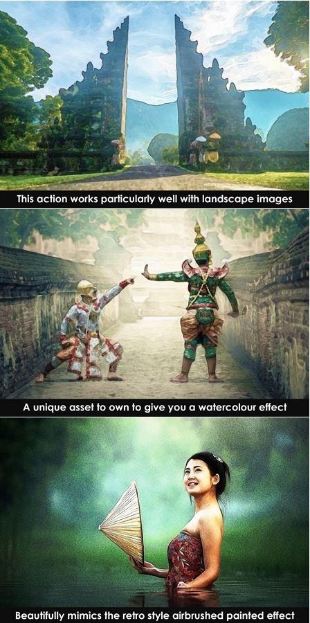 Action tạo hiệu ứng màu thiên nhiên