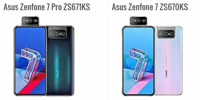 الفرق بين Asus Zenfone 7 و Asus Zenfone 7 Pro