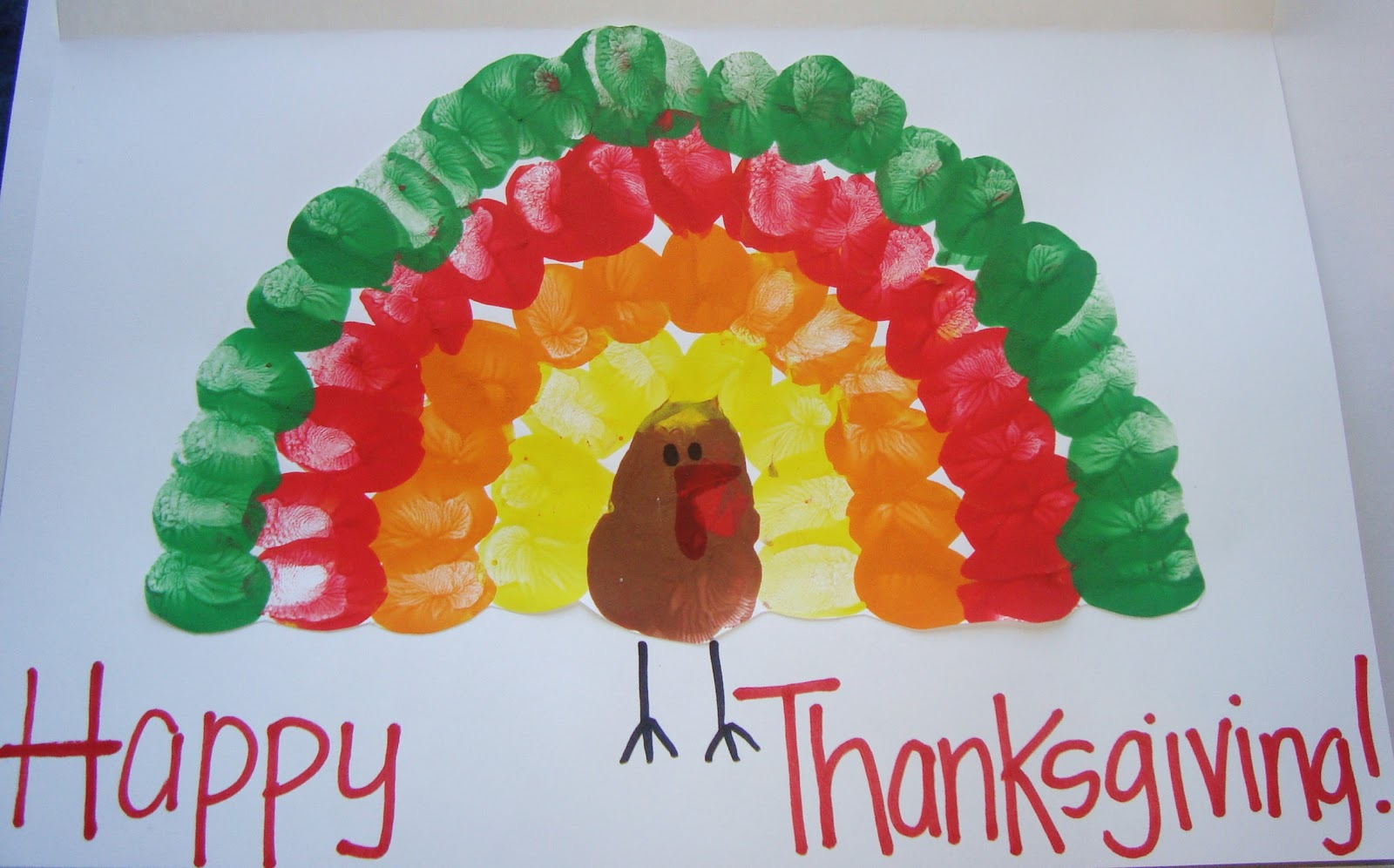 Turkey Craft For Kids Thumbprints