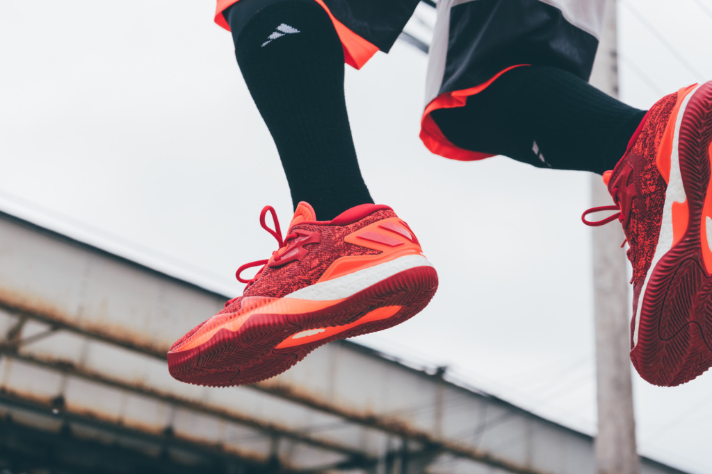 the best attitude b3ffe a552b Championing the evolution of adidass basketball sneakers, the Crazylight  2016 gets a bold makeover in Solar Red. The lightweight, low-top form  embraces the ...
