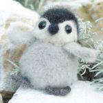patron gratis pingüino amigurumi