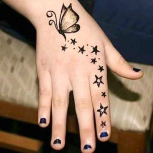 How to draw mehndi designs step by step for kids
