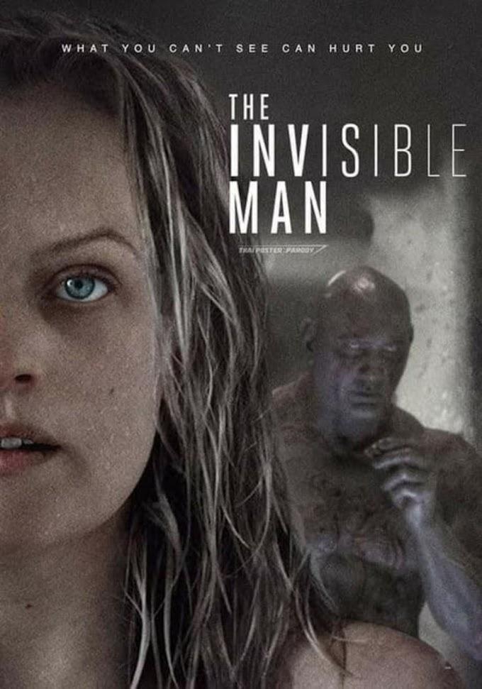エリザベス・モス主演の話題のホラー映画の全米ヒット作「インヴィジヴル・マン」の恐怖の透明人間の正体をネタバレしてやったぞ‼️というマーベル・ファンが納得😂のポスター‼️