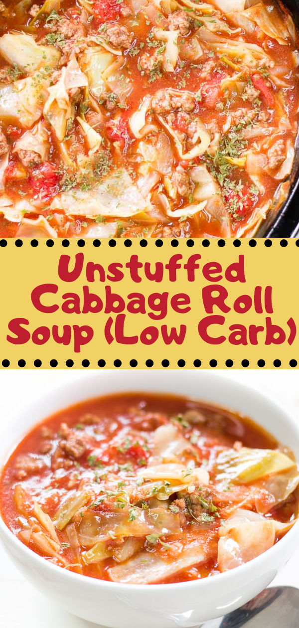 Healthy Recipes   Unstuffed Cabbage Roll Soup (Low Carb), Healthy Recipes For Weight Loss, Healthy Recipes Easy, Healthy Recipes Dinner, Healthy Recipes Pasta, Healthy Recipes On A Budget, Healthy Recipes Breakfast, Healthy Recipes For Picky Eaters, Healthy Recipes Desserts, Healthy Recipes Clean, Healthy Recipes Snacks, Healthy Recipes Low Carb, Healthy Recipes Meal Prep, Healthy Recipes Vegetarian, Healthy Recipes Lunch, Healthy Recipes For Kids, Healthy Recipes Crock Pot, Healthy Recipes Videos, Healthy Recipes Weightloss, Healthy Recipes Chicken, Healthy Recipes Heart, Healthy Recipes For One, Healthy Recipes For Diabetics, Healthy Recipes Smoothies, Healthy Recipes For Two, Healthy Recipes Simple, Healthy Recipes For Teens, Healthy Recipes Protein, Healthy Recipes Vegan, Healthy Recipes For Family, Healthy Recipes Salad, Healthy Recipes Cheap, Healthy Recipes Shrimp, Healthy Recipes Paleo, Healthy Recipes Delicious, Healthy Recipes Gluten Free, Healthy Recipes Avocado, Healthy Recipes Quinoa, Healthy Recipes Cauliflower, Healthy Recipes Pork, Healthy Recipes Steak, Healthy Recipes For School, Healthy Recipes Slimming World, Healthy Recipes Fitness, Healthy Recipes Baking, Healthy Recipes Sweet, Healthy Recipes Indian, Healthy Recipes Summer, Healthy Recipes Vegetables, Healthy Recipes Diet, Healthy Recipes No Meat, Healthy Recipes Asian, Healthy Recipes On The Go, Healthy Recipes Fast, Healthy Recipes Ground Turkey, Healthy Recipes Rice, Healthy Recipes Mexican, Healthy Recipes Fruit, Healthy Recipes Tuna, Healthy Recipes Sides, Healthy Recipes Zucchini, Healthy Recipes Broccoli, Healthy Recipes Spinach,  #healthyrecipes #recipes #food #appetizers #dinner #unstuffed #cabbage #soup