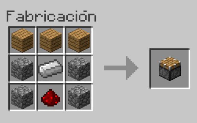 A piston is very useful for pushing blocks