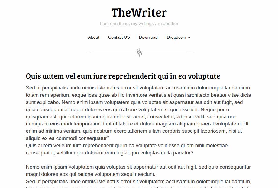 Simple Text Plain White Light Blogger Template