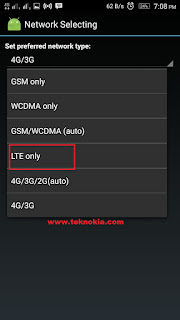 cara kunci jaringan 4G Only