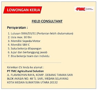 Field Consultant di PT FMC Agricultural Solution