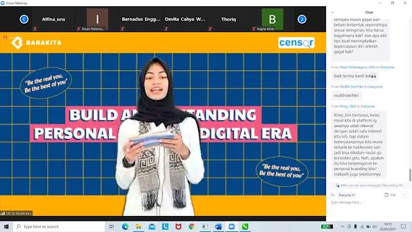 Kolaborasi BEM FISIPxCensor Ajak Mahasiswa Bangun Personal Branding