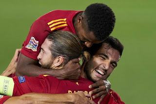 Sergio Ramos happy that Spain have such a player like Ansu FAti in their squad.