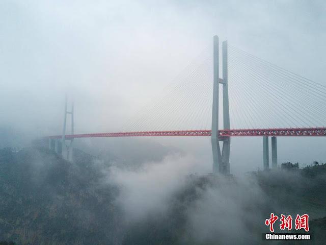 Breaking News: World's tallest bridge opens to traffic
