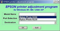 Reset Epson Stylus Photo R230