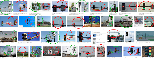 photos of what red light cameras look like