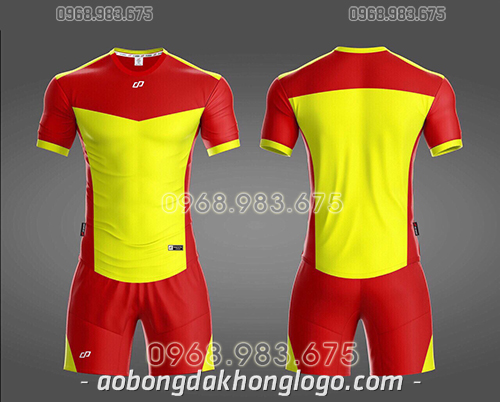 Áo bóng đá ko logo CP KC màu vàng