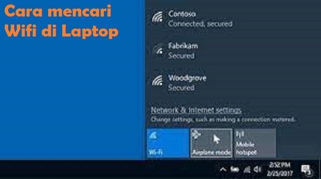 Cara Mencari Wifi di Laptop