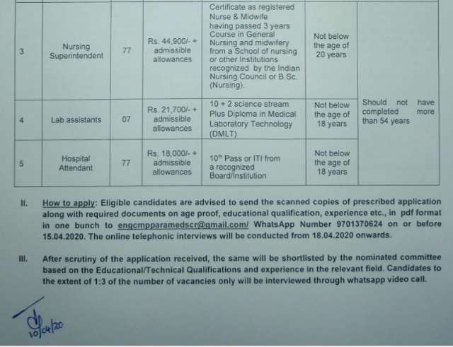 South Central Railway Hospital Attendant Vacancy 2020