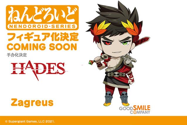 Zagreus, protagonista de Hades (Multi), ganhará versão Nendoroid pela Good Smile Company