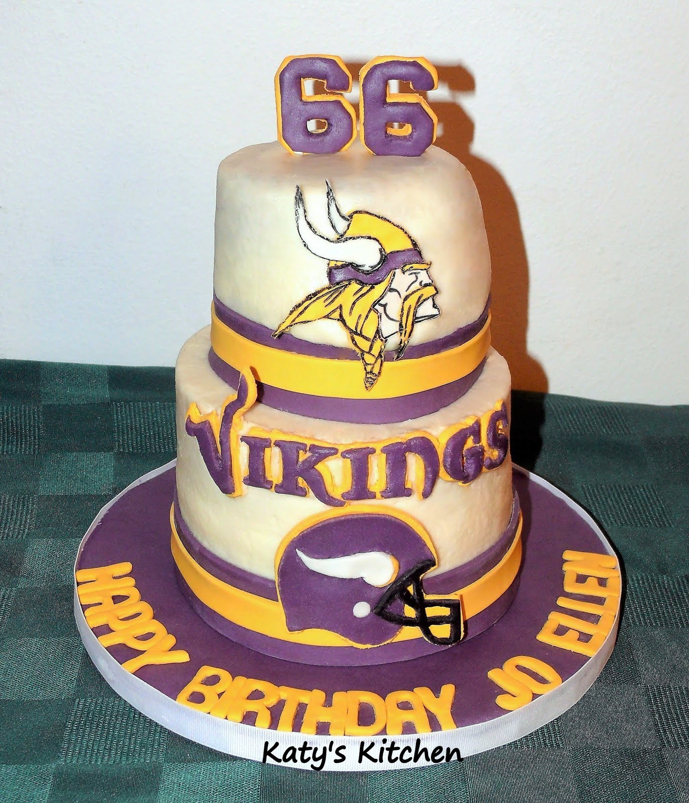 Sensational Katys Kitchen Minnesota Vikings Cake Funny Birthday Cards Online Elaedamsfinfo