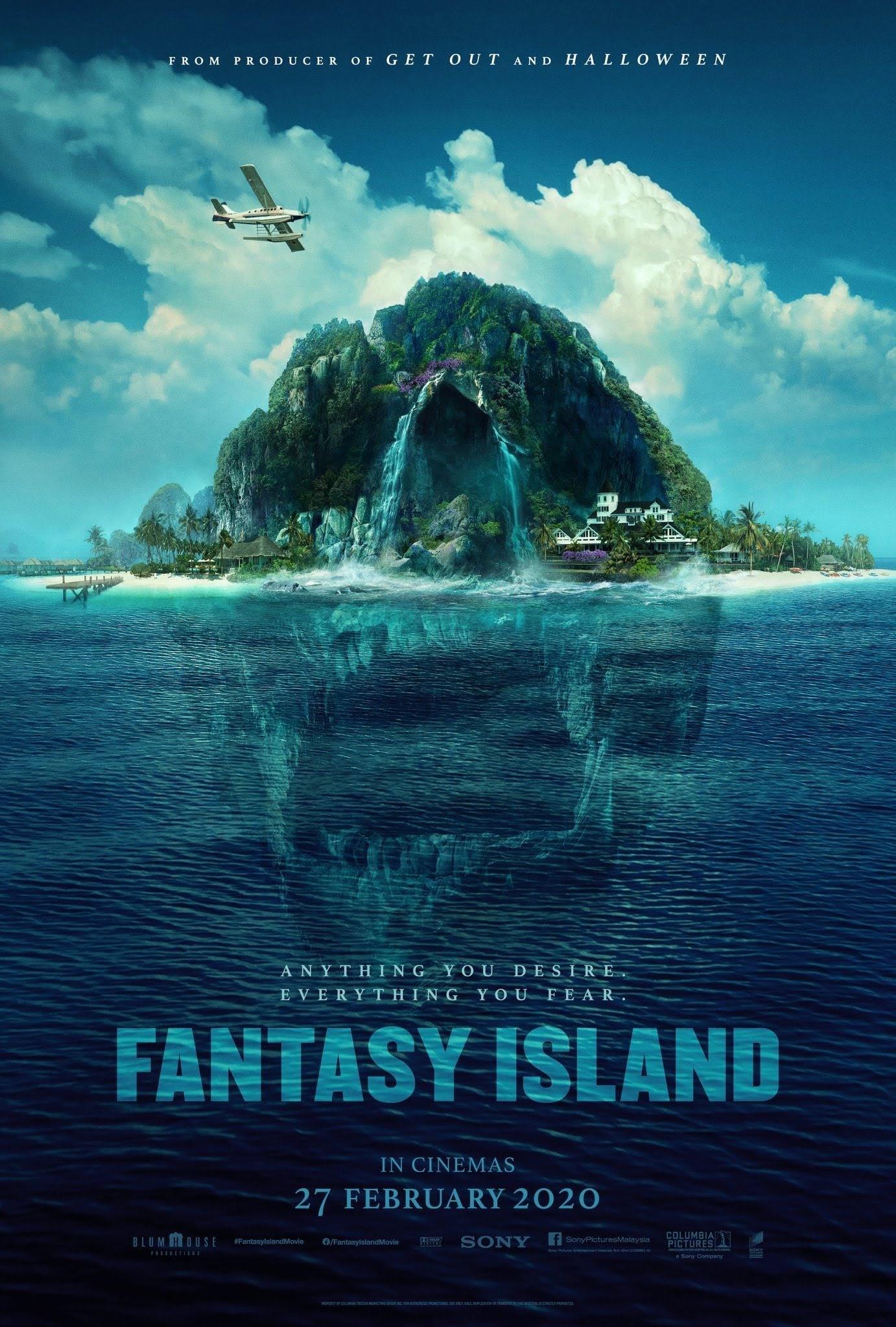 New Poster for Fantasy Island : 70年代の人気テレビシリーズをホラー映画化した「ファンタジー・アイランド」の不気味なドクロ・ポスター ! !