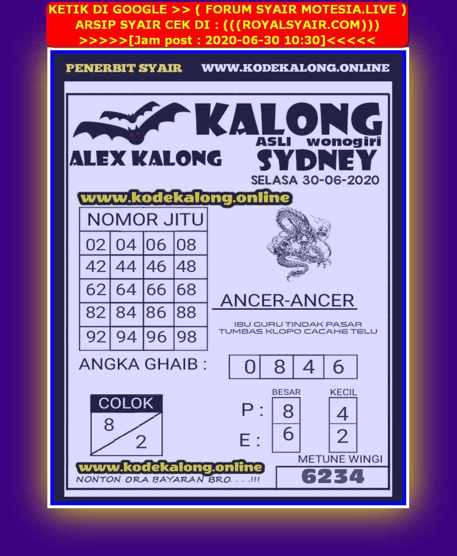 Kode syair Sydney Selasa 30 Juni 2020 80
