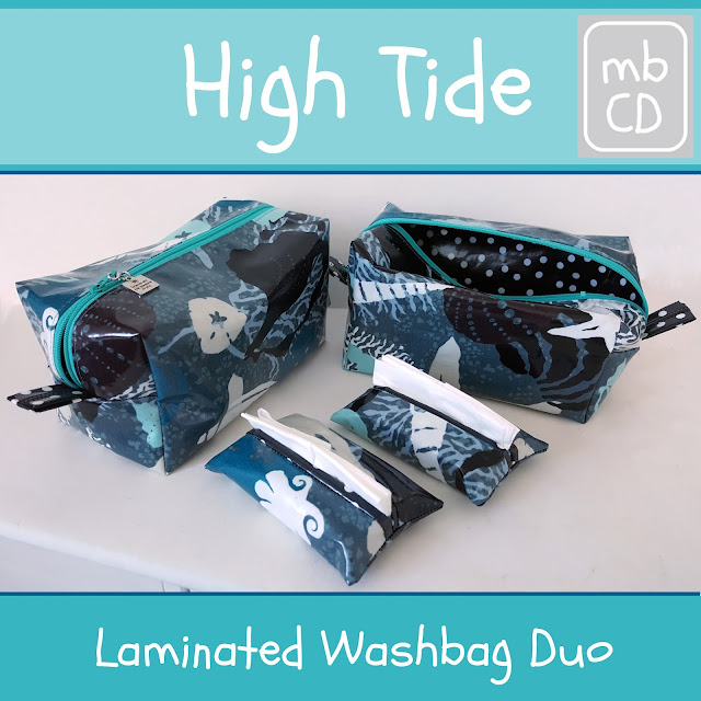 Laminated Washbag by www.madebyChrissieD.com