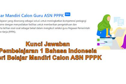 Kunci Jawaban Pembelajaran 1 Bahasa Indonesia Seri Belajar Mandiri Calon ASN PPPK