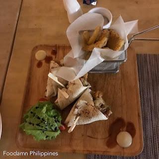 South Palms Resort Panglao - Oceanica Seafood Restaurant  pita sandwich