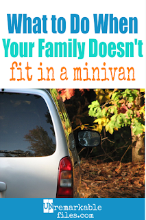 When the number of people is greater than the number of seats in your minivan, it's time to re-evaluate your family vehicle situation. Or is it? Here is why we love being a 2-car family, with all the pros and cons. #bigfamily #largefamily