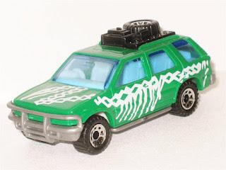 Matchbox Dino Riders Isuzu Rodeo Vauxhall Frontera Green 4x4 Rare Model Mint