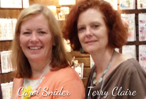 Carol Snider and Terry Claire from Little B will be with us Sat. Nov. 8 from 10am - 4pm.