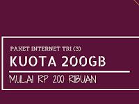 Paket Promo Tri 120GB Cuma 200 ribu (100GB Berlaku Seumur Kartu), Caranya Begini?