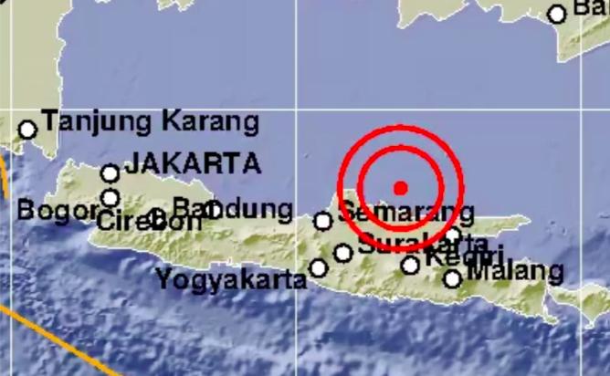 Gempabumi berkekuatan Magnitudo 6 Guncang Tuban , Jawa Timur