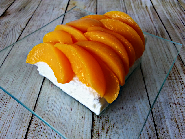 Cheesecake de melocoton soin horno