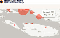 koronavirus karta Sutivan slike otok Brač Online