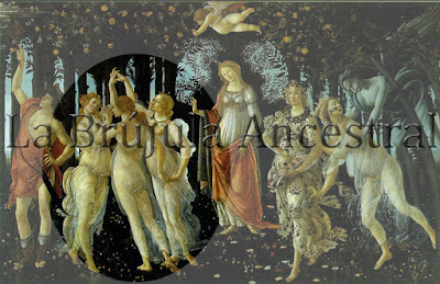 Tres de copas, La Primavera de Botticelli