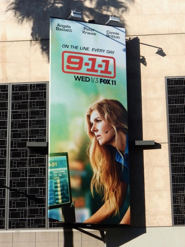 911 Connie Britton billboard