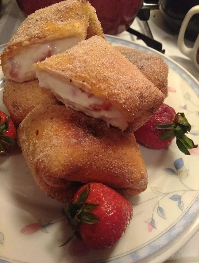 Strawberry Cheesecake Chimichangas