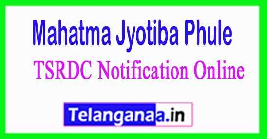 MJPTBC TSRDC Notification Online Application