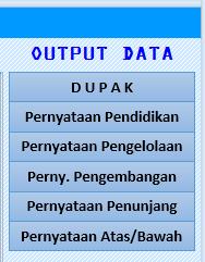 Aplikasi Excel Formulir Daftar Usul Penetapan Angka Kredit / DUPAK