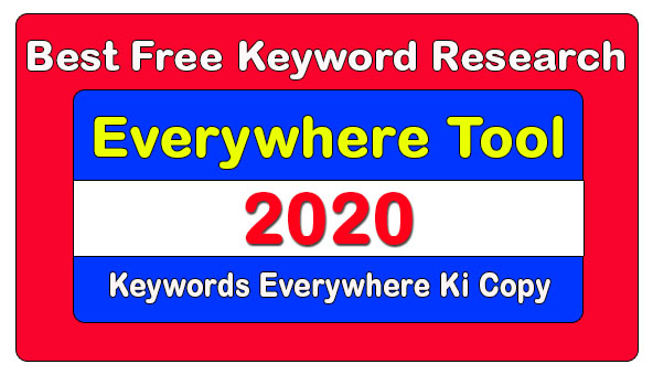 Best Free Keyword Research Tool In Blogger 2020