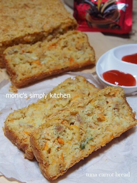 resep tuna carrot no knead bread