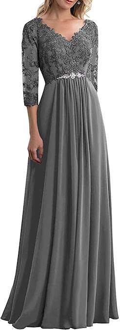 Simple Grey Mother of The Groom Dresses