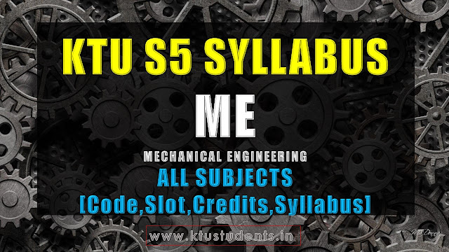 ktu s5 me syllabus s5 mechanical